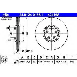 ATE 24012401681 Тормозной диск
