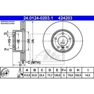 ATE 24.0124-0203.1 Тормозной диск Бмв Х1