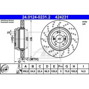 ATE 24.0124-0231.2 Тормозной диск Бмв 1