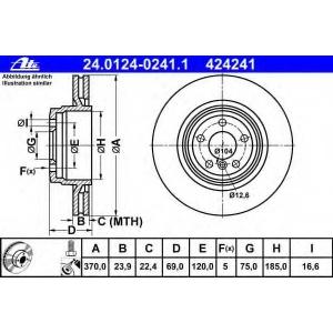 ATE 24.0124-0241.1 Тормозной диск Бмв 5