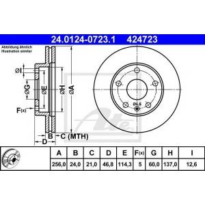 ATE 24.0124-0723.1 Тормозной диск Дэу Леганза