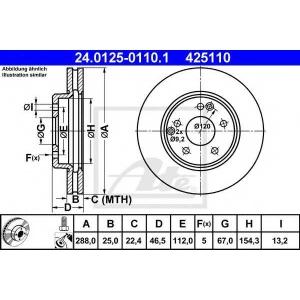 ATE 24.0125-0110.1 Диск тормозной