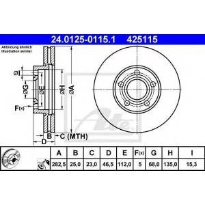 ATE 24.0125-0115.1 Тормозной диск