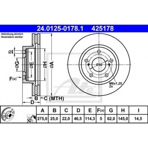 ATE 24.0125-0178.1 24.0125-0178.1 Диск гальмівний ATE (шт.)