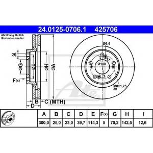 ATE 24.0125-0706.1 Тормозной диск Хонда С2000