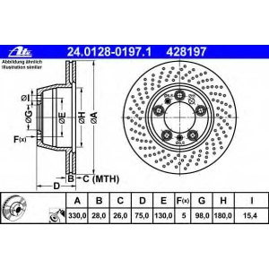 ATE 24012801971 Тормозной диск