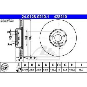 ATE 24012802101 Тормозной диск