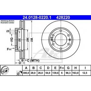 ATE 24.0128-0220.1 Тормозной диск Киа