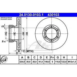 ATE 24013001031 Тормозной диск