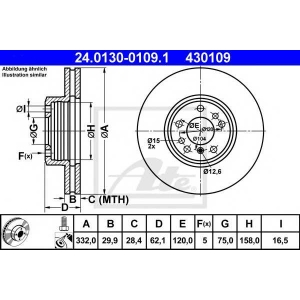 ATE 24.0130-0109.1 Тормозной диск Бмв Х3