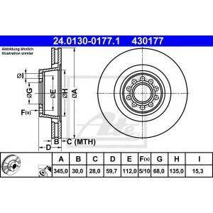 ATE 24.0130-0177.1 Тормозной диск Ауди А8