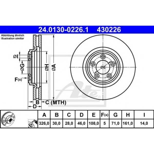 ATE 24.0130-0226.1 Тормозной диск Ягуар