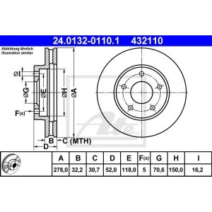ATE 24.0132-0110.1 Тормозной диск Опель Синтра