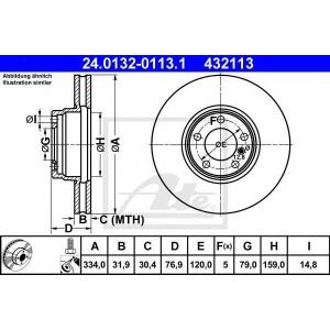 ATE 24013201131 Тормозной диск