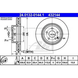 ATE 24.0132-0144.1 Тормозной диск Мерседес Джт Л-Класс