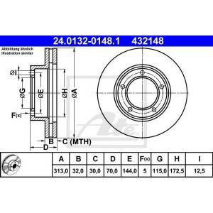 ATE 24.0132-0148.1 Тормозной диск Лексус Л-Икс