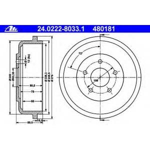 ATE 24022280331 Тормозной барабан