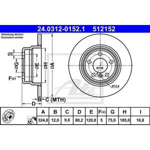 ATE 24.0312-0152.1 Тормозной диск Бмв Х5