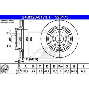 ATE 24.0320-0173.1 Тормозной диск Фиат Хрома