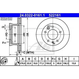 ATE 24.0322-0161.1 Тормозной диск Мерседес Спринтер 4Т
