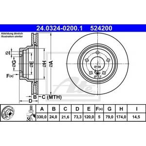 ATE 24.0324-0200.1 Тормозной диск Бмв 1