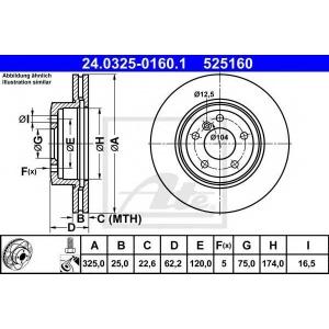 ATE 24.0325-0160.1 Тормозной диск Бмв Х3