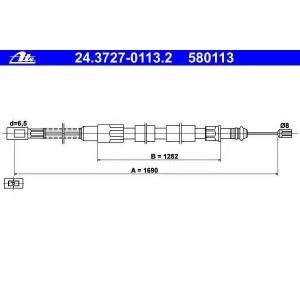 ATE 24372701132 Трос, стояночная тормозная система