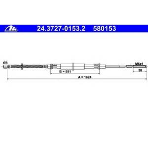 ATE 24.3727-0153.2 Трос стояночного тормоза
