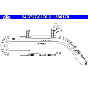 ATE 24372701702 Трос, стояночная тормозная система