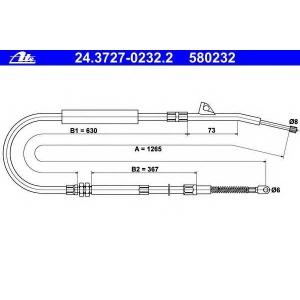 ATE 24372702322 Трос, стояночная тормозная система