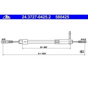 ATE 24372704252 Трос, стояночная тормозная система