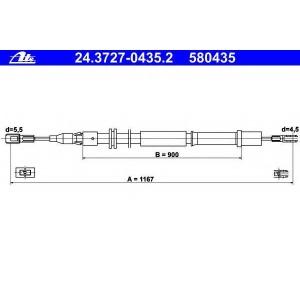 ATE 24.3727-0435.2 Трос стояночного тормоза