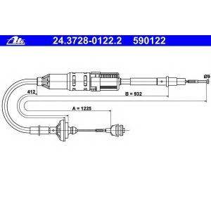 ATE 24372801222 Трос, управление сцеплением