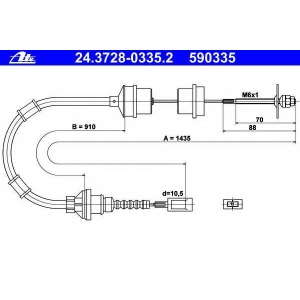 ATE 24372803352 Трос, управление сцеплением