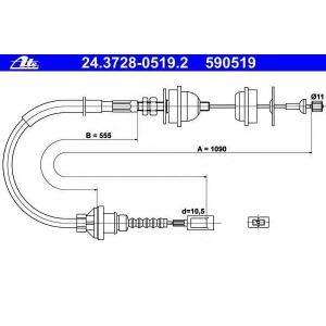 ATE 24372805192 Трос, управление сцеплением