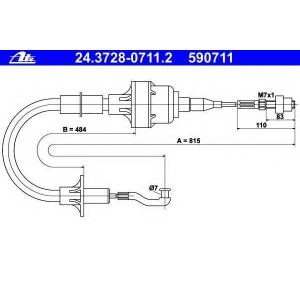 ATE 24372807112 Трос, управление сцеплением