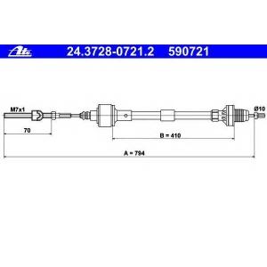 ATE 24372807212 Трос, управление сцеплением