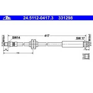 ATE 24511204173 Тормозной шланг