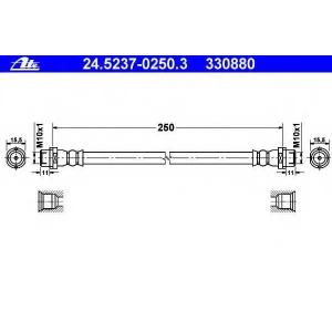ATE 24.5237-0250.3 24.5237-0250.3 Шланг гальмівний ATE (шт.)