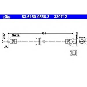 ATE 83.6150-0556.3 ATE ham. cable / hose coupling BMW 7 E65-66, 2002 -