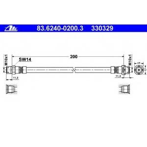 ATE 83.6240-0200.3 BMW brake hose Reihe/3-Series 3er (E36) 09.90-02.98
