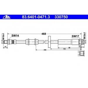 ATE 83.6401-0471.3 Тормозной шланг