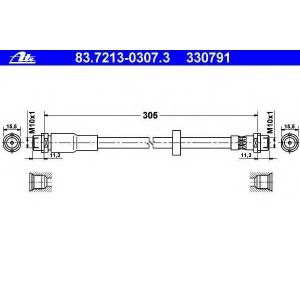 ATE 83.7213-0307.3 Шланг тормозной