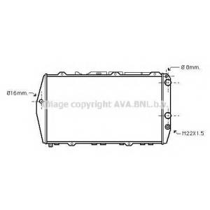 Радиатор, охлаждение двигател ai2019 ava - AUDI 100 (43, C2) седан 1.9