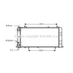 AVA COOLING AI2051 Радиатор AUDI 100 1.8 MT/AT 79-90 (Ava)