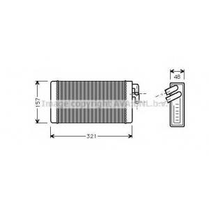 AVA COOLING AI6052 Радиатор отопителя AUDI 100/200/A6 ALL MT/AT (Ava)
