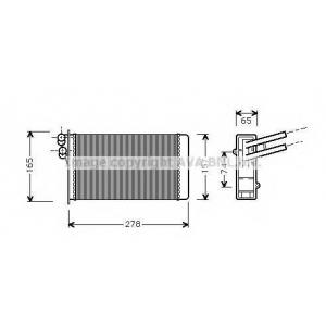 AVA COOLING AI6097 Радиатор отопителя AUDI80/90/A4 / VW PASSAT5 (Ava)