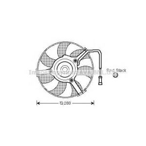 AVA COOLING AI7504 Вентилятор радиатора VW (пр-во AVA)