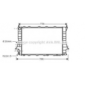 AVA COOLING AIA2077 Радиатор AU 100/A6 MT +/-AC 90-97 (Ava)