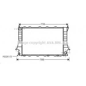 AVA COOLING AIA2083 Радиатор AI 100/A6 2.6/28 MT 92-97 (Ava)